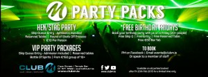 Check out our Club M Party packages.  Great for all occassions
